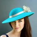 teal winter occasion hat