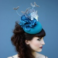 teal felt occasion hat