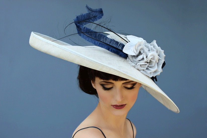 Mother Of The Bride Hats For Short Hair: 'Theda' Large Brimmed Hat
