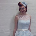 light blue wedding fascinator