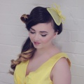 yellow wedding fascinator