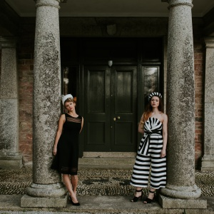 1950s inspired black and white occasion hats