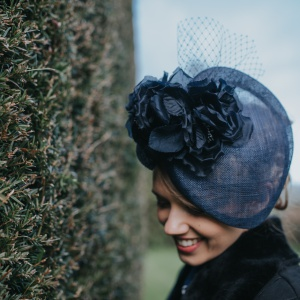 'Armscote' Navy occasion wear hat