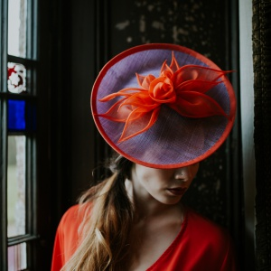 'Fire Lily' petal disk hat
