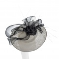 black & white wedding hat