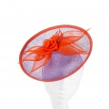 purple & orange petals disk hat