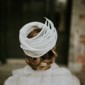 white occasion hat pill box