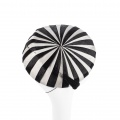 black & white stripy occasion hat