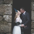 Bride and groom in Boho Cornwall