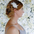 small silver lace hair comb for a bride