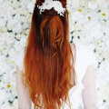 ivory champagne crystal lace hair vine