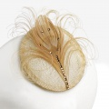 gold peacock crystal fascinator