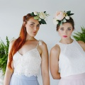 flower crowns with peonies