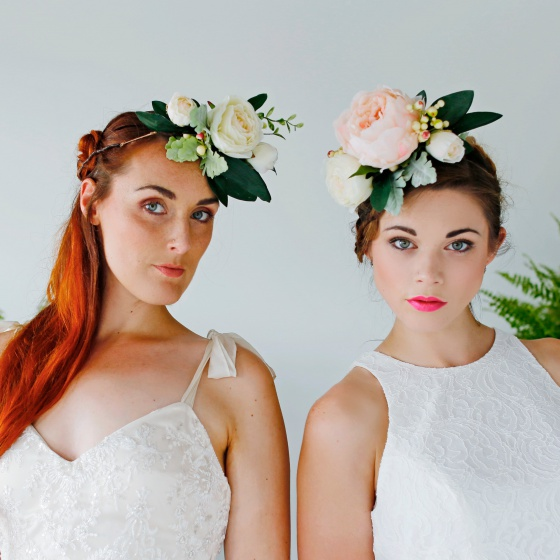 Flower crown brides