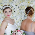 ivory lace wedding hair accessories