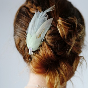Pastel Feather Clip
