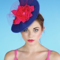 Mademoiselle Butterfly Hat - Blue and Pink