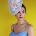 Small Wedding and Races Hat - Pastel