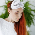 'burgh' white fascinator