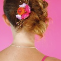 bridesmaids floral hair comb