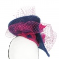 Wedding Hat in a Bold Colour way