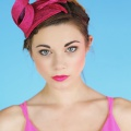 Mini Art Deco Hat in Pink