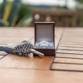 Justin Duance matching mens ring and buttonhole