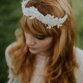 kenynen lace tiara crown boho wedding headdress
