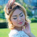 rose gold pheasant feather headdress