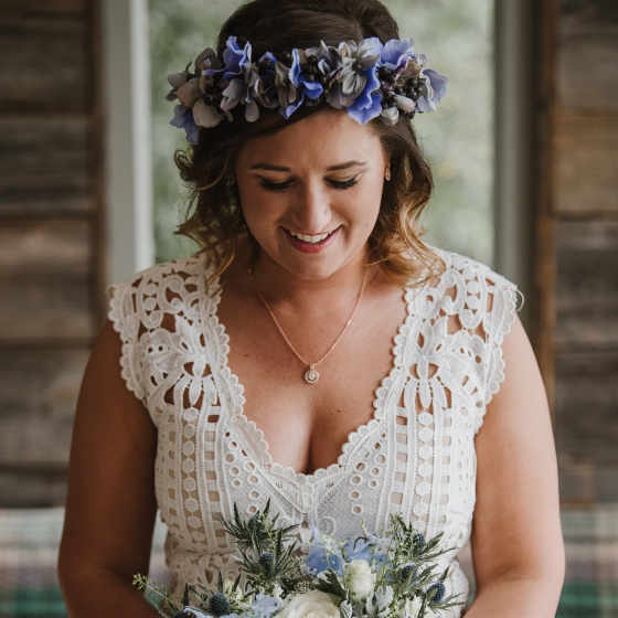 Real brides - Tanya's flower crown