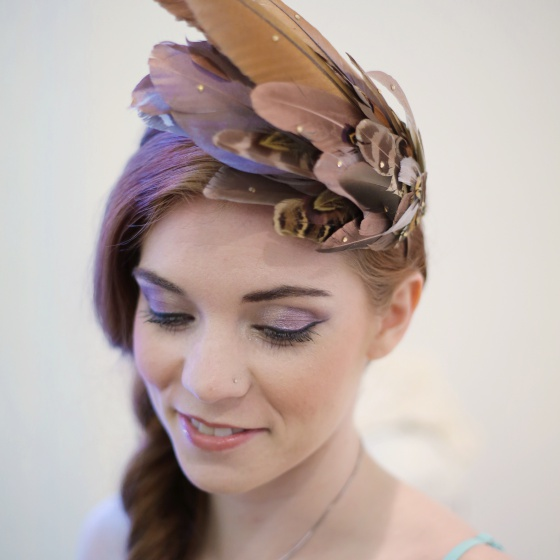 Pheasant feather accessories on trend
