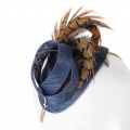 navy small cocktail hat with pheasant feathers