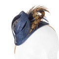 navy pheasant feather fascinator option