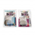 silk and lace brooch making kits, mixed colours