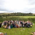 Rustic wedding in the Cornish countryside