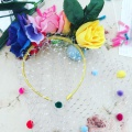 pom pom flower headdress making class