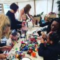 flower crown pom pom making workshop