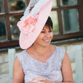 largh peach races hat