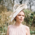 Alaria ivory sculpted hat Holly young millinery