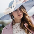 'francie' blue wide brim hat Holly Young