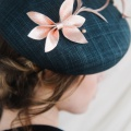 Bardot navy beret Holly Young