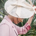 'Alaria' Ivory occasion hat Holly Young