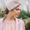 'Bleujen' nude pink cocktail hat