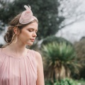 'burgh' blush pink cocktail hat Holly Young