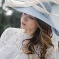 'francie' blue bell wide brim hat Holly Young