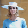 blue boater hat at the royal wedding 2018