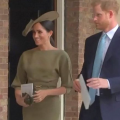 Meghan markle at the christening of prince Louis