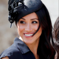 Meghan markle in navy Philip Treacy hat