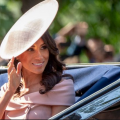 Meghan markle pink hat at trooping of the colours