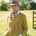 camel coloured pheasant feather trilby